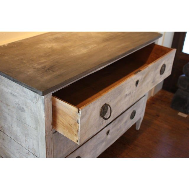 Wood Swedish Style Painted Pine Chest of Drawers For Sale - Image 7 of 7