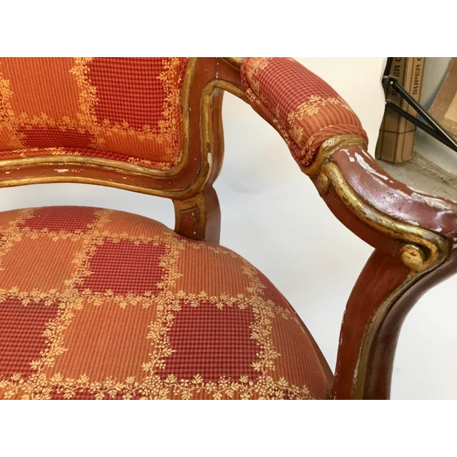 Late 19th Century 19th Century Venetian Louis XV Style Painted and Gilt Armchairs- A Pair For Sale - Image 5 of 13