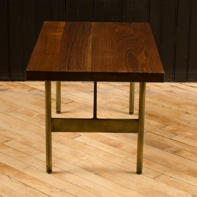 """Gratz Industries Contemporary """"Terenia"""" Walnut Top Console Table For Sale - Image 4 of 6"""