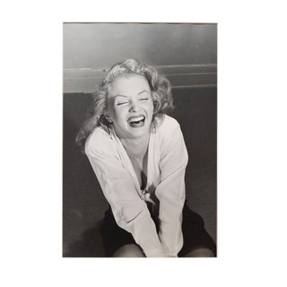 "Philippe Halsman ""Marilyn Monroe Laughing"" Silver Gelatin Signed Photograph, 1949 For Sale"
