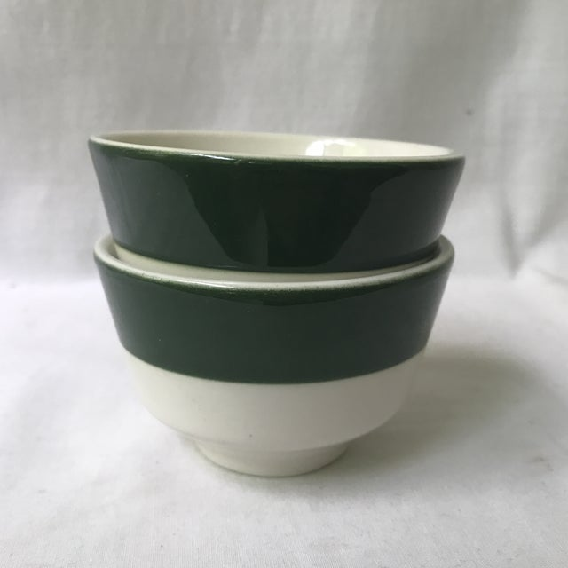 Mid-Century Modern Homer Laughlin Green Band Bowls - A Pair For Sale - Image 3 of 6