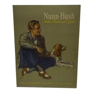 1940's Vintage Nunn-Bush Cardboard Stand-Up Sign For Sale