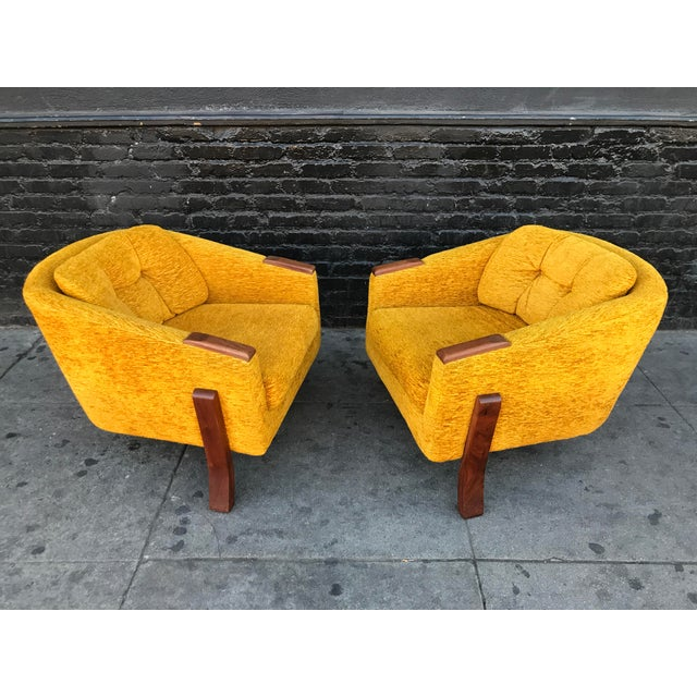 Adrian Pearsall Mid Century Lounge Chairs by Chelmode Furniture - A Pair For Sale - Image 4 of 13