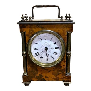 Antique English Tortoiseshell Bracket Clock