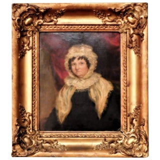 """""""Lady in Lace"""" Oil Painting on Board, England, Circa 1835 For Sale"""