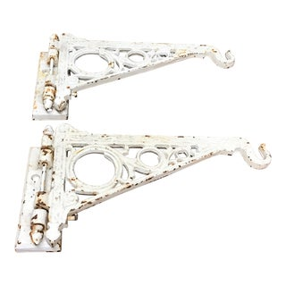 Eastlake Style Iron Brackets - A Pair For Sale