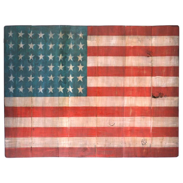 Americana Old Wood Painted American Flag For Sale - Image 3 of 3