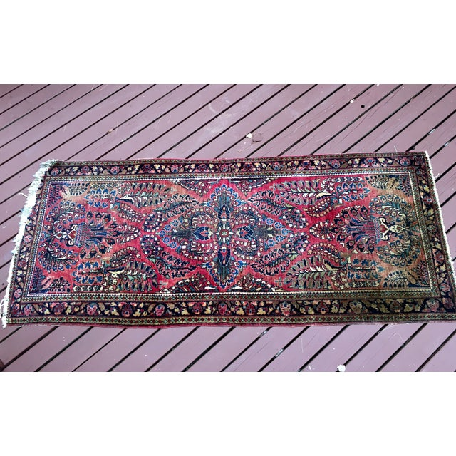 1920s Hand-Knotted Runner - 2′ × 6′ - Image 2 of 11