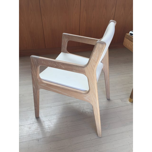 Mid-Century Modern Contemporary De La Espada White Oak Deer Armchairs - a Pair For Sale - Image 3 of 11