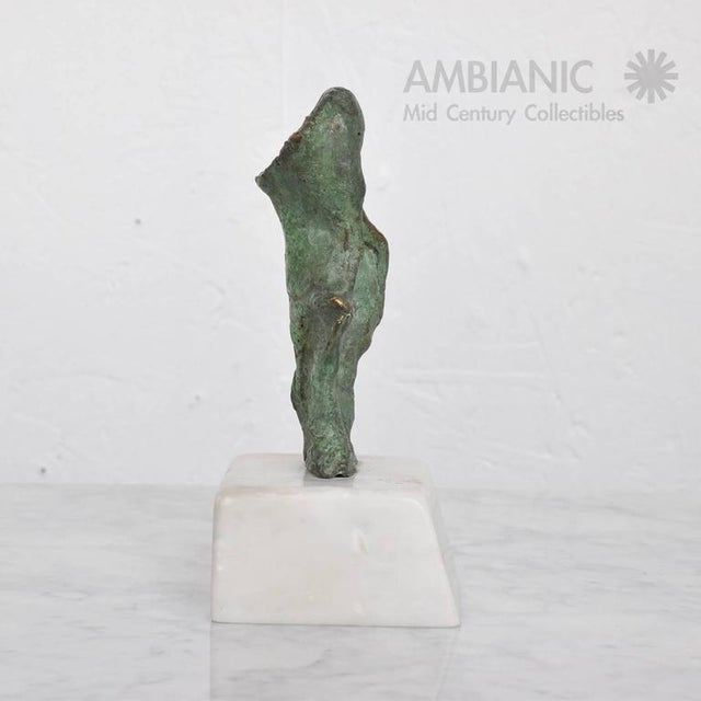 Abstract Mid-Century Modern Abstract Bronze & Marble Sculpture For Sale - Image 3 of 8