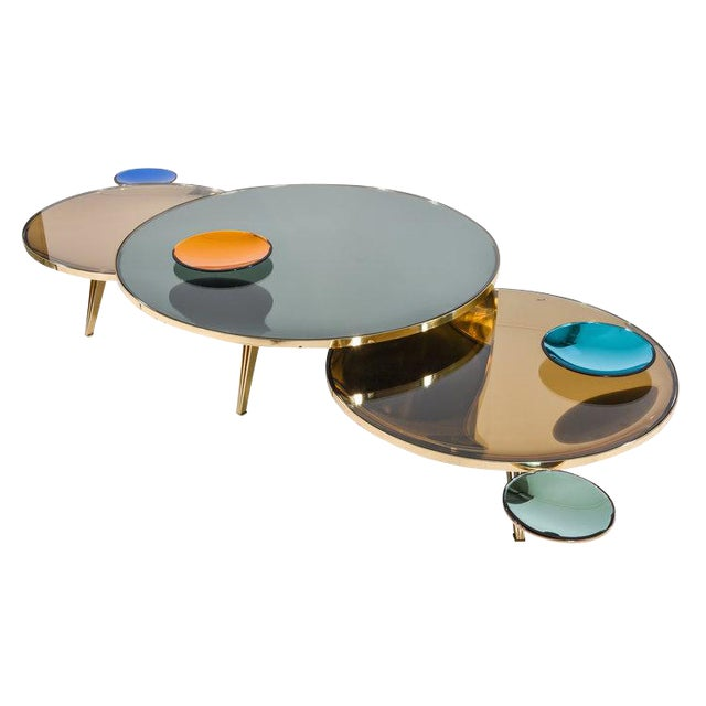 Riflesso Coffee Tables - Set of 3 For Sale
