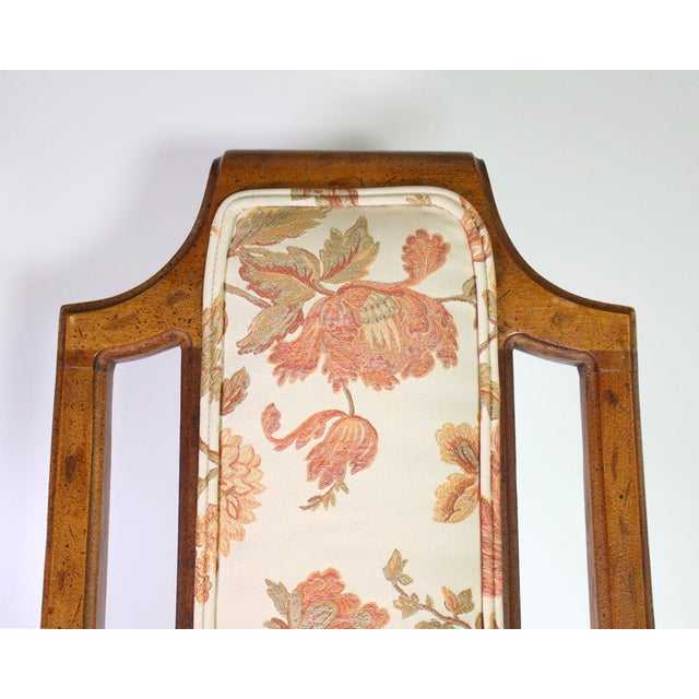Vintage High Back Italian Provincial Chairs by Dixie Furniture Co - Set of 4 For Sale In Los Angeles - Image 6 of 8