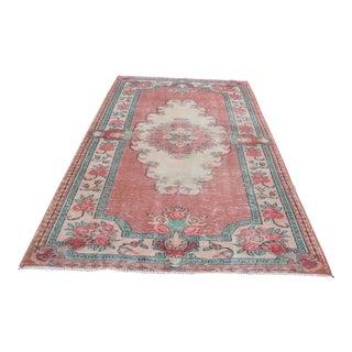"Antique Turkish Wool Floor Rug - 5'2"" x 8'11"""