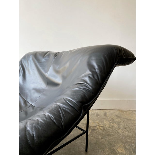 Black 1980s Gerard Van Den Berg Black Leather Butterfly Chair For Sale - Image 8 of 11