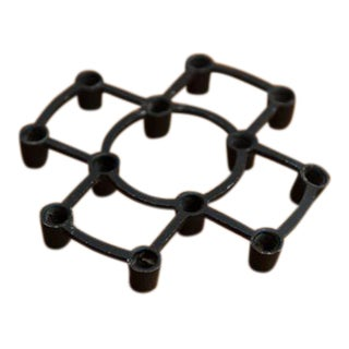 Danish Brutalist Black Wrought Iron Cross Candle Holder