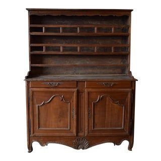 19th Century French Provincial Cherrywood Kitchen Cupboard For Sale