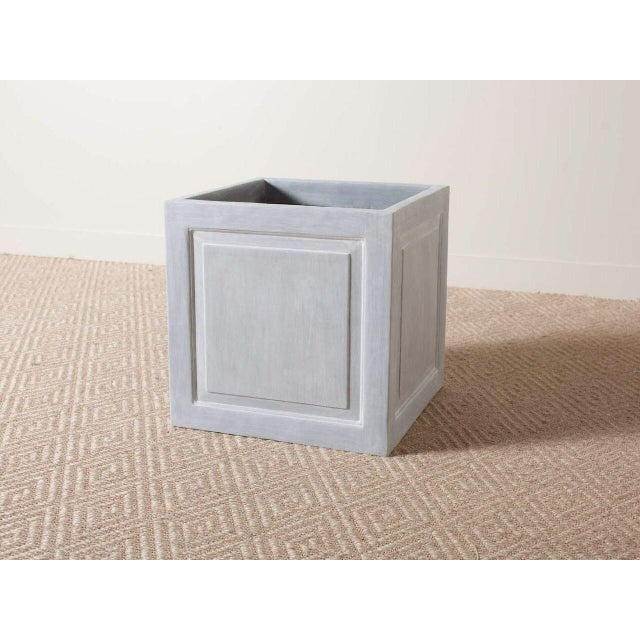 Outdoor Traditional Cast Resin Classic Planter For Sale - Image 4 of 4