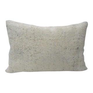 Vintage Cream Decorative Kilim Pillow For Sale