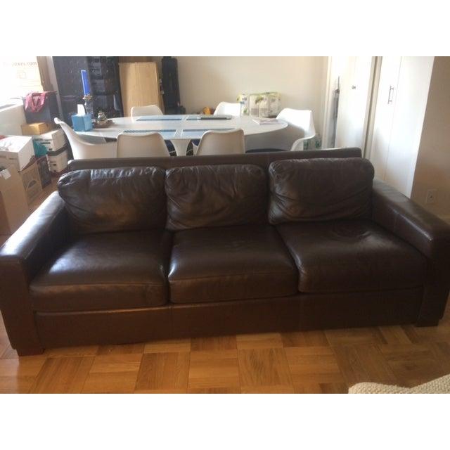 "Design Within Reach 84"" Portola Leather Sofa - Image 3 of 5"