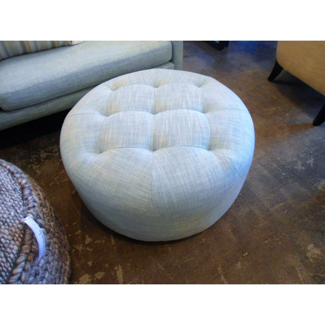 This is a super pure light aqua colored ottoman. The diamond tufting pattern is also very beautiful. We have the matching...