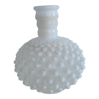 Vintage Fenton Hobnail Glass Vase For Sale