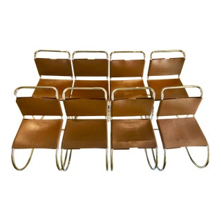 Mies Van Der Rohe Chairs From Knoll Design - Set of 8 For Sale