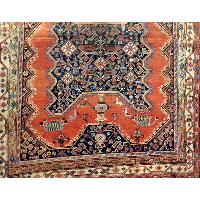 "Islamic 1900s Handmade Antique Persian Mishan Malayer Rug - 4'9"" X 6' For Sale - Image 3 of 6"