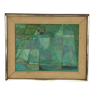 Mid Century Abstract Oil Painting by Gardner For Sale
