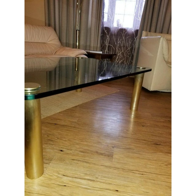 Brass and Glass Coffee Table by the Pace Collection Leon Rosen For Sale - Image 10 of 13