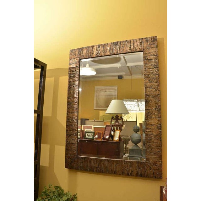 Gold Accented Mica Bark Mirror - Image 5 of 5
