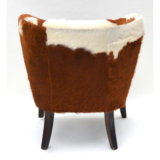 Vintage Cowhide Chair For Sale In Los Angeles - Image 6 of 9