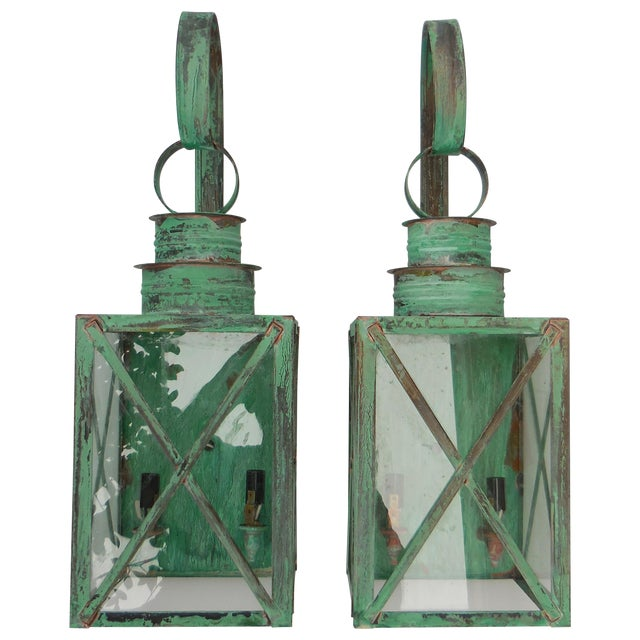 Copper Lanterns - A Pair - Image 1 of 11