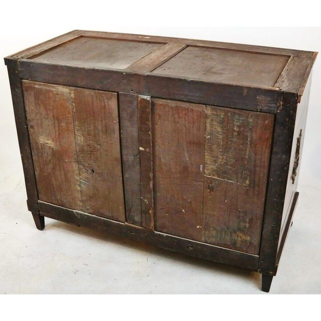 19th Century French Empire Marble Top Bronze Mounted Commode For Sale - Image 11 of 13