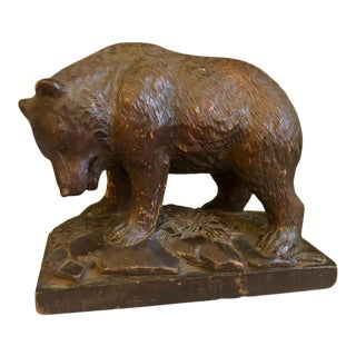 19th Century Small Black Forrest Carving of a Bear, For Sale