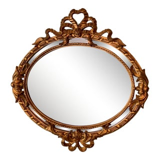 19th Century French Louis XVI Style Double Frame Oval Mirror For Sale