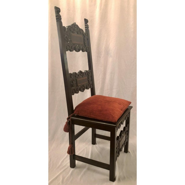 Set of 14 Antique English Oak Renaissance Dining Chairs, Circa 1880. For Sale - Image 4 of 6