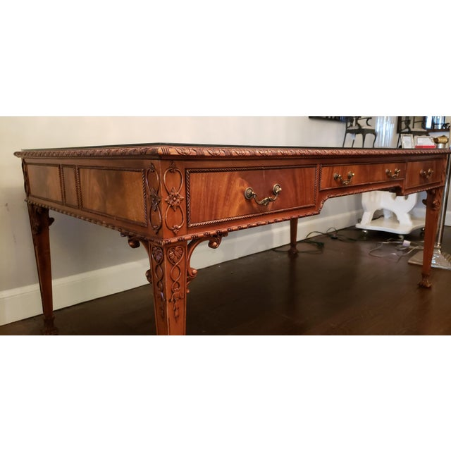 English Ornate Writing Desk For Sale - Image 4 of 8