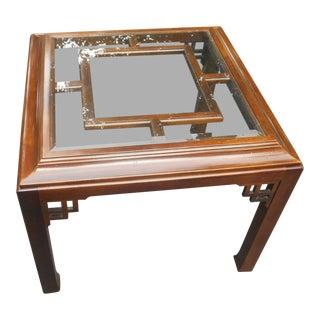 Vintage Hekman Asian Style Walnut Side / Coffee Table For Sale