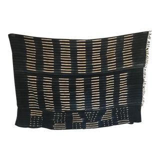 1960s African Indigo Mudcloth Batik Textile Fabric For Sale
