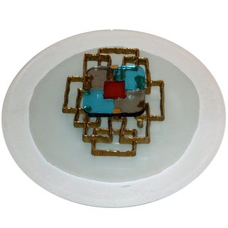 2000 Bronze and Venini Glass Luster Wall Sconce in the Style of Angelo Brotto