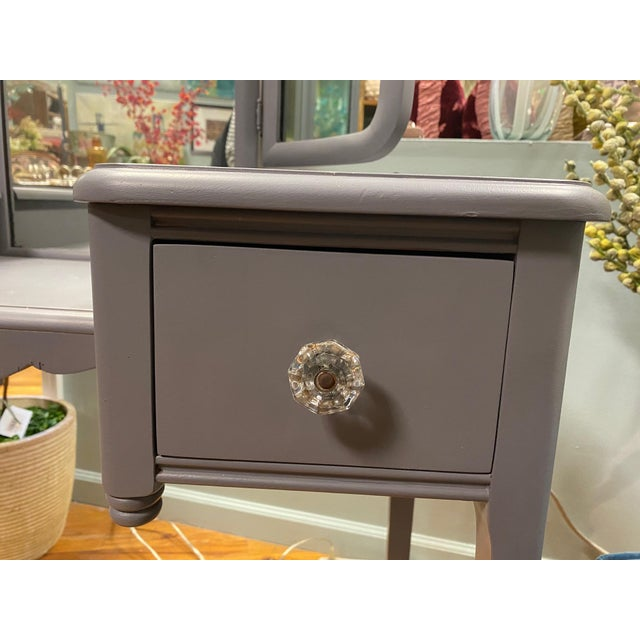 Traditional Painted Vintage Vanity For Sale - Image 3 of 12