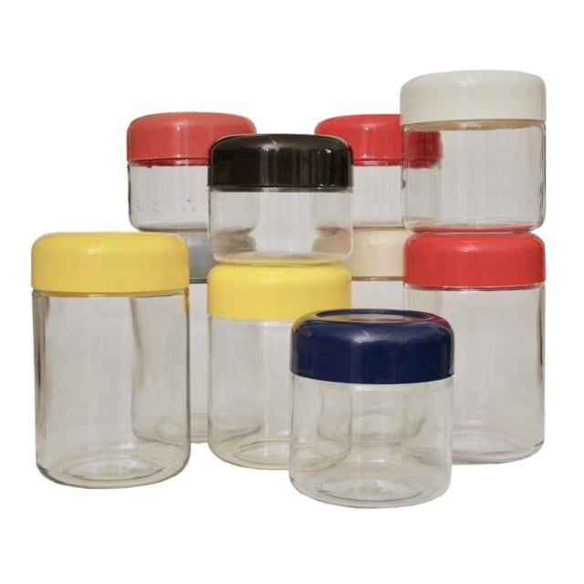 Massimo Vignelli Collection of Glass Storage Jars - Set of 10 - Image 1 of 7