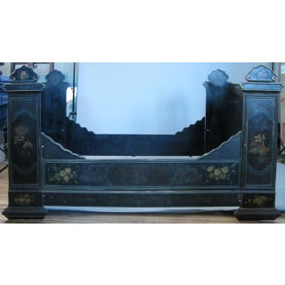 Antique Victorian Hand-Painted Cast Iron Bed Preview