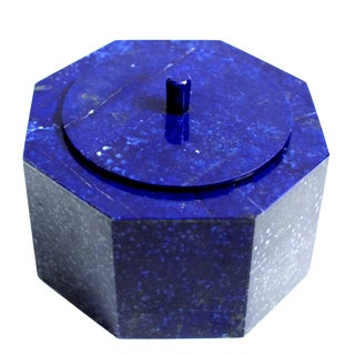 Large Natural Lapis Lazuli Octagonal Box For Sale