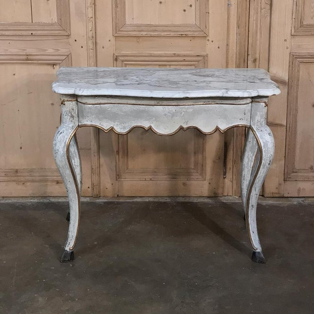 Early 19th Century 19th Century Swedish Painted Marble Top Console For Sale - Image 5 of 13