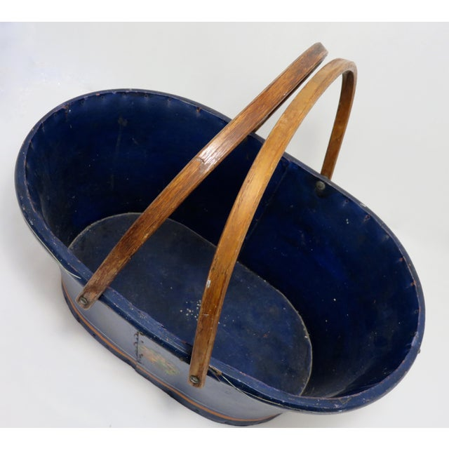1890s Antique Grocery Shopping Carry Basket For Sale - Image 4 of 13