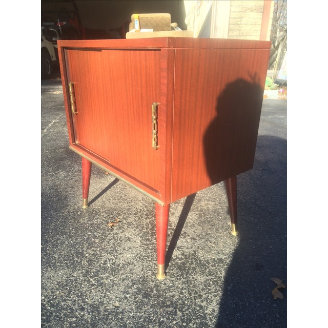 Mid-Century Style Record Cabinet - Image 3 of 5