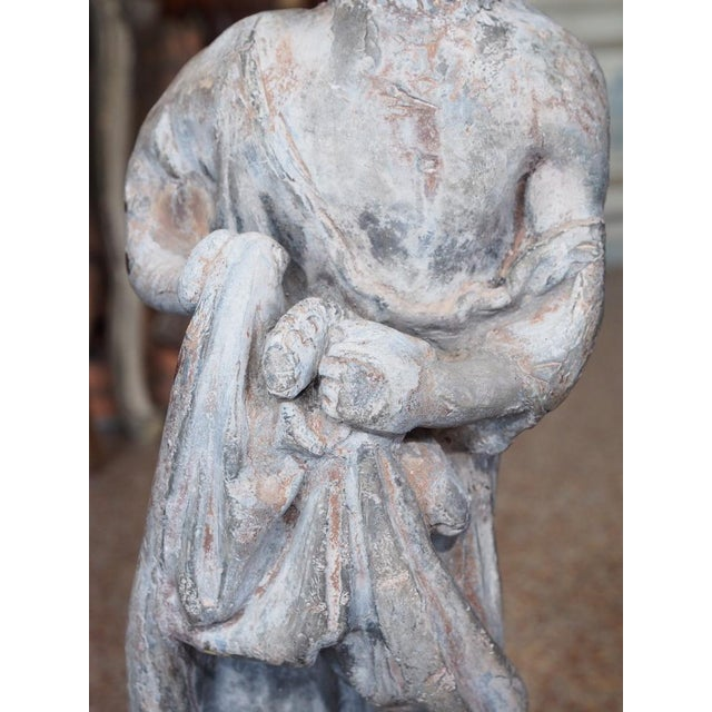 19th Century French Lead Statue of a Young Girl For Sale In New Orleans - Image 6 of 7