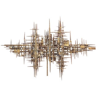 Brutalist Wall Sculpture For Sale
