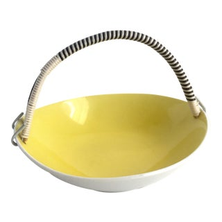 1960s Mid Century Modern Yellow Candy Dish For Sale